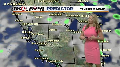 FORECAST: Hot & humid Monday, few storms