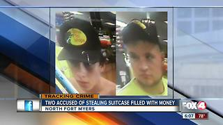 People accused of stealing suitcase filled with money - Video