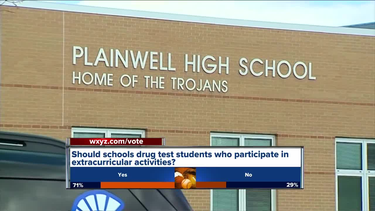 Michigan school district considering drug testing students in extracurricular activities