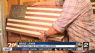 Baltimore County officers makes wood flags for deserving neighbors - Video