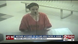Mother accused of killing kids faces a judge