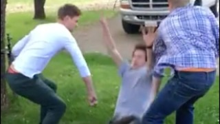 Two Friends Fail At Supporting Their Friends Back Flip - Video