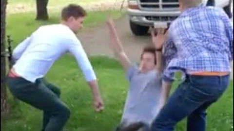 Two Friends Fail At Supporting Their Friends Back Flip
