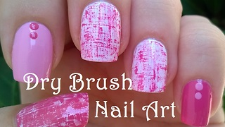 DIY Pink Dry Brush Nail Art Tutorial
