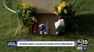 Family killed in crash with Phoenix firetruck remembered