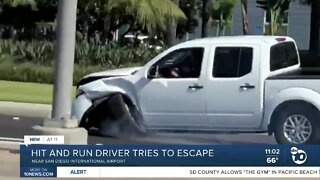 Airport hit and run