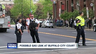 Possible gas leak at Buffalo City Court