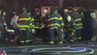 Two injured in overnight crash involving suspected inebriated driver in Denver - Video