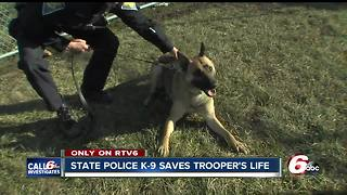 Indiana State Police trooper opens up about the night his K-9 partner saved his life