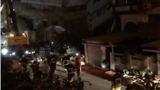 Emergency Services, Crane Attend Collapsed Building in Hualien - Video