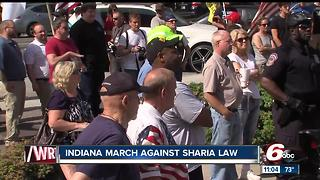 March against Sharia law at the Indiana Statehouse - Video