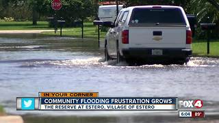 Frustration growing over flooding in the Reserve at Estero - Video