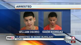 3 Arresred in Home Burglary - Video