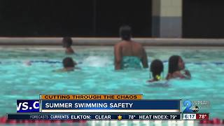 Making sure your family is safe for swim time this swimmer - Video