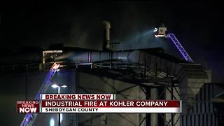 Crews battle fire at Kohler Co. in Sheboygan County - Video