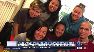 Family organizes a fall festival in honor of their 13-year-old son who died of cancer