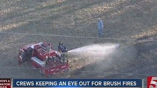 Fire Crews On Alert For Brush Fires On Thanksgiving - Video