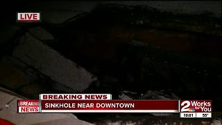 Sinkhole in northwest Tulsa