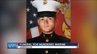 Flags at half-staff for fallen Wisconsin Marine - Video