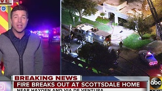 Reporter live at Scottsdale house fire that left one dead - Video