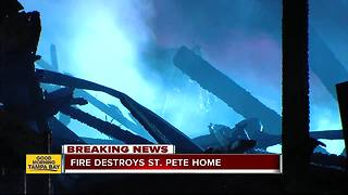 Fire destroys St. Pete home - Video