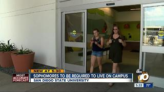 SDSU sophomores to be required to live on campus - Video