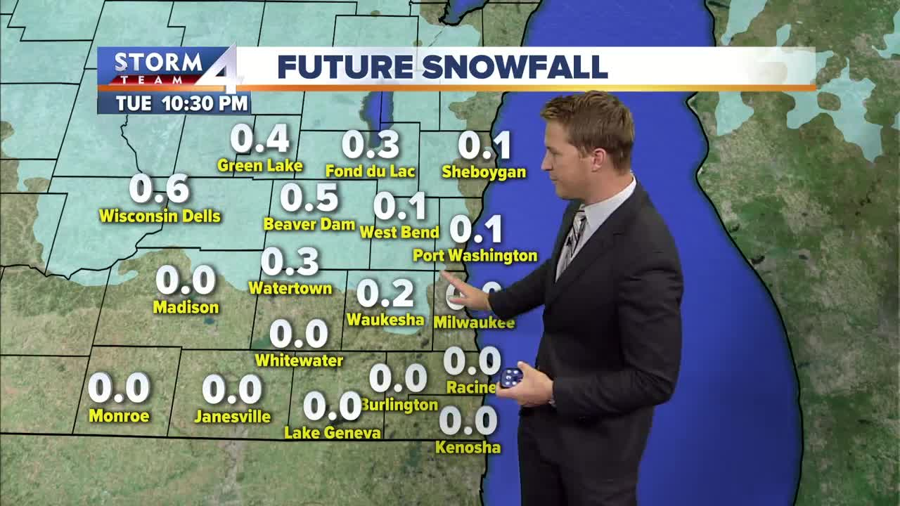 Dry afternoon, chance for snow/rain late