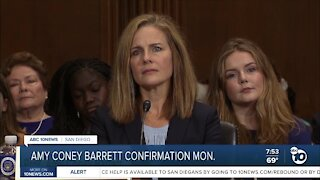 Amy Coney Barrett confirmation to be held Monday