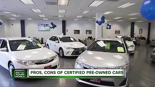 Pros and cons of certified pre-owned cars