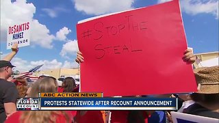 Protests statewide after recount announcement