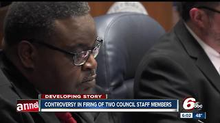 City-County Council president fires two employees ahead of removal vote - Video