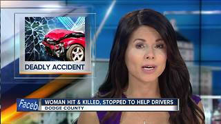 Wisconsin woman who stopped to help other drivers struck and killed - Video