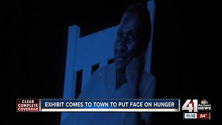 Exhibit in Overland Park puts a face on hunger - Video