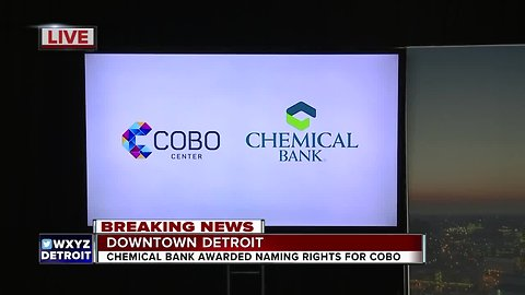 Chemical Bank awarded naming rights to Cobo Center