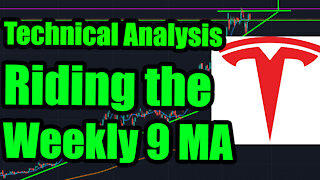 Tesla Stock Long Term Price Today Riding Weekly 9 MA Technical Analysis