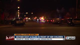 Mother shot and killed in front of her children - Video