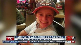 10-year-old Brayden Eidenshink continues to fight for his life