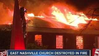 Eastminster Presbyterian Destroyed By Fire - Video