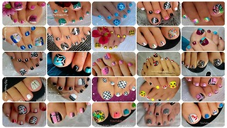 25 Toenail Art Designs Compilation ♥ - Video