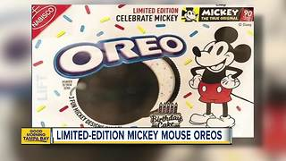 Limited-edition Mickey Mouse Oreos - Video
