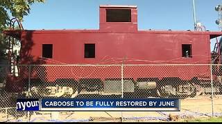Caboose gets new life during restoration project - Video