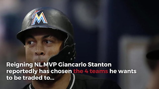 The 4 Teams Giancarlo Stanton Approves Of Being Traded To - Video