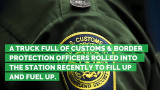 Shell Gas Station Employee Shuts Off Pumps & Refuses Service to Border Officers - Video