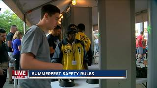 Summerfest updates security policy for 2018