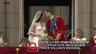 Pieces of cake from royal weddings including William and Kate to be sold - Video