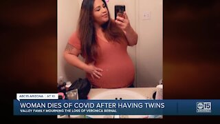 Valley woman dies of COVID after having twins