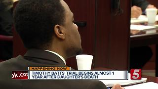 Timothy Batts Trial Begins; Officer Takes The Stand - Video