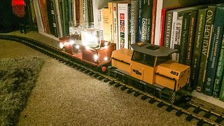 Model Train Set Delivers Party Drinks, Just in Time for Christmas - Video