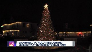 Southfield to hold tree lighting ceremony at Burgh Historical Park