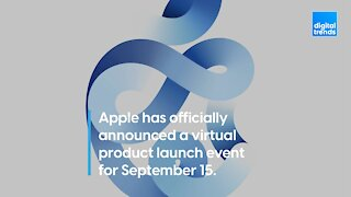 Apple has officially announced a virtual product launch event for September 15